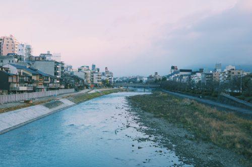 Kamo river in winter